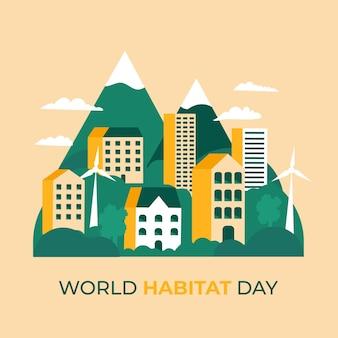 Ilustração do dia mundial do habitat