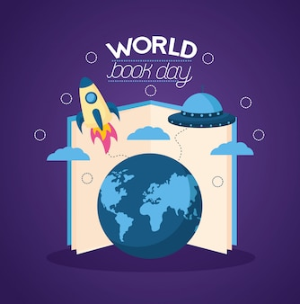 Ilustração do dia mundial do livro