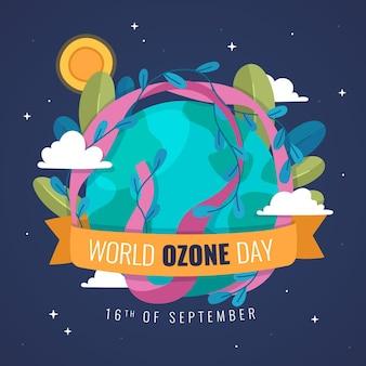 Ilustração do dia mundial do ozônio