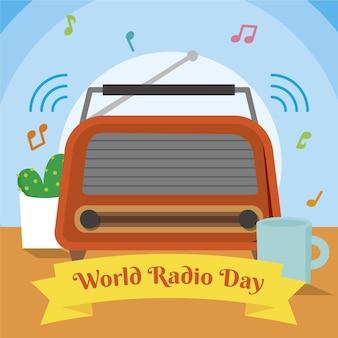 Ilustração do dia mundial do rádio