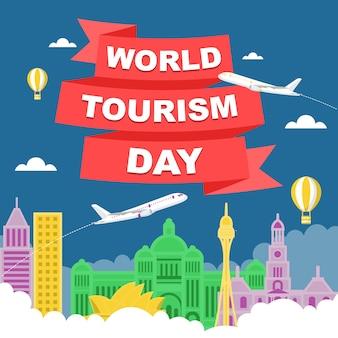 Ilustração do dia mundial do turismo em sydney city australia