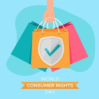 Ilustração do dia mundial dos direitos do consumidor