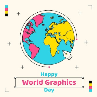 Ilustração do dia mundial dos gráficos
