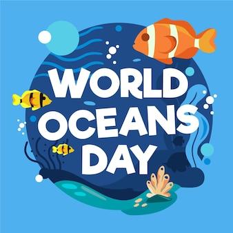 Ilustração do dia mundial dos oceanos