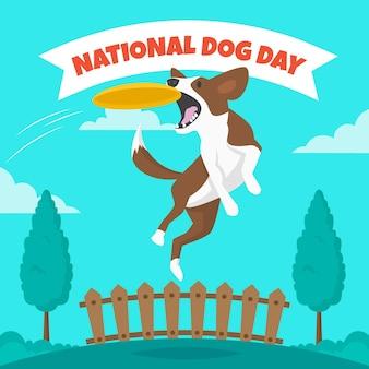 Ilustração do dia nacional do cão Vetor grátis