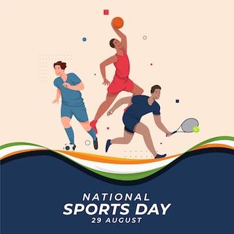 Ilustração do dia nacional do esporte da índia