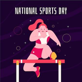 Ilustração do dia nacional do esporte
