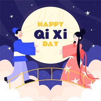 Ilustração do dia qi xi