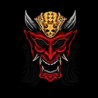 Ilustração do diabo escuro do crânio