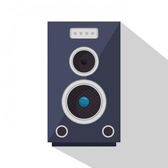 Ilustração do dispositivo de som do alto-falante