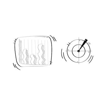 Ilustração do doodle de negócios de inicialização