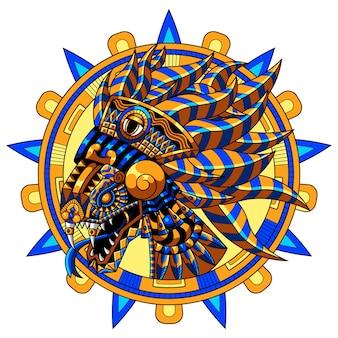Ilustração do dragão de quetzalcoatl