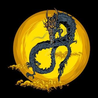 Ilustração do dragão voador