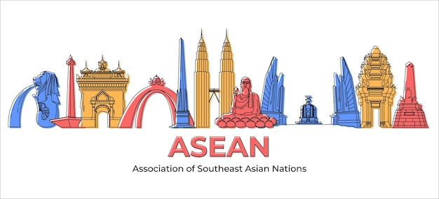 Ilustração do edifício asean