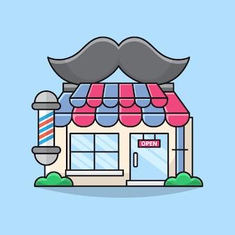 Ilustração do edifício barbearia.