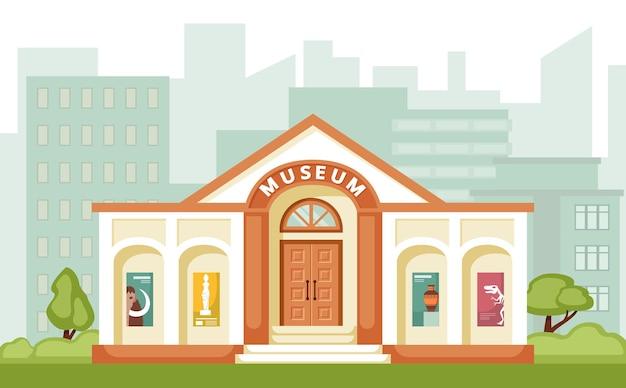 Ilustração do edifício do museu.