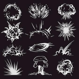 Ilustração do efeito de explosão dos desenhos animados
