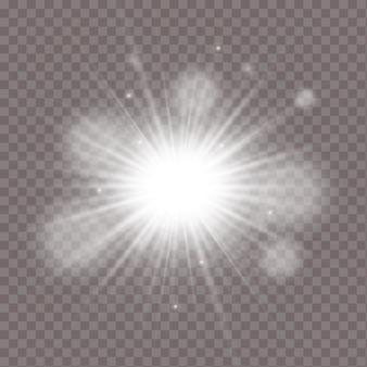 Ilustração do efeito de luz brilhante isolada