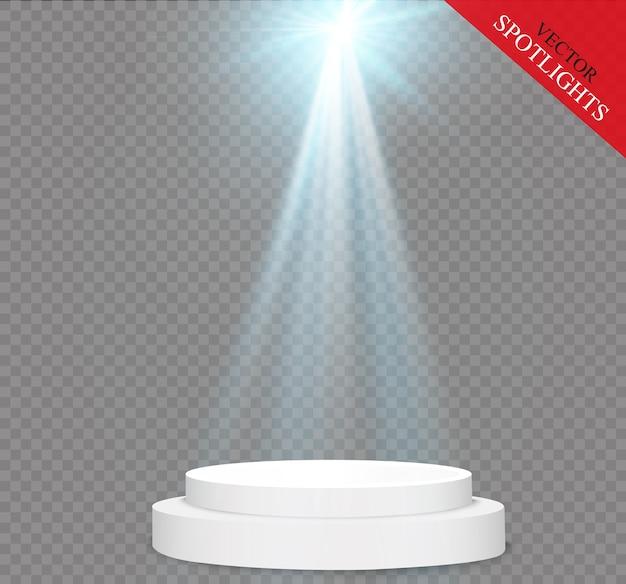 Ilustração do efeito de luz brilhante