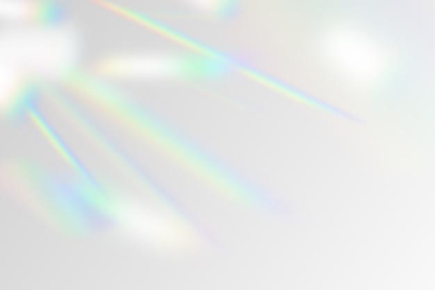 Ilustração do efeito de sobreposição do arco-íris