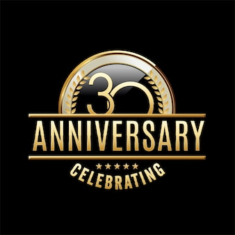 Ilustração do emblema do aniversário de 30 anos