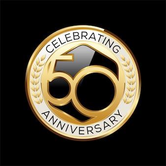 Ilustração do emblema do aniversário de 50 anos