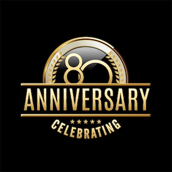 Ilustração do emblema do aniversário de 80 anos
