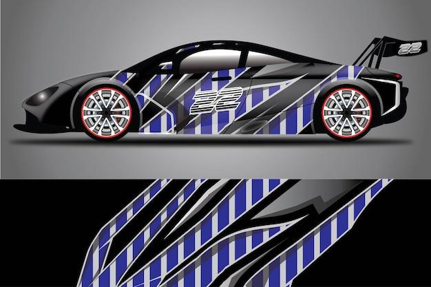 Ilustração do envoltório do vetor do decalque do carro