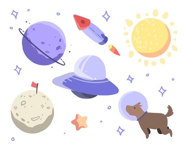 Ilustração do espaço sideral
