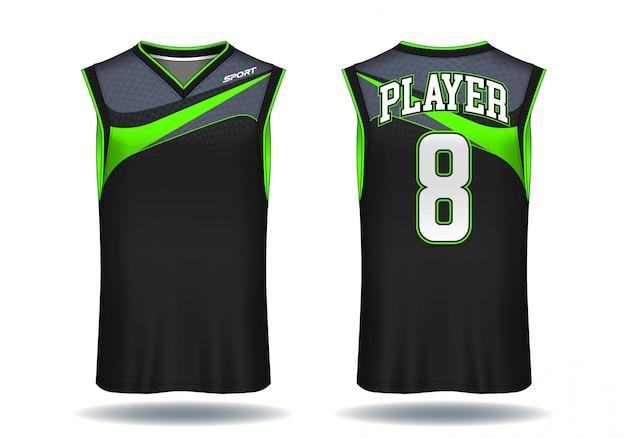 Ilustração do esporte da camiseta de alças do jérsei do basquetebol.