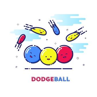 Ilustração do esporte do dodgeball