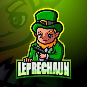 Ilustração do esporte do mascote do leprechaun Vetor Premium