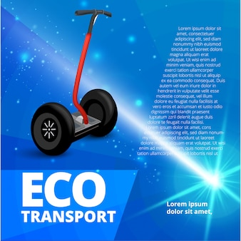 Ilustração do estilo realista para cartazes, banners, publicidade. transporte ecológico em abstrato. modelo de banner de publicidade