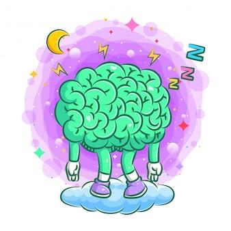 Ilustração do estresse do cérebro sob a pressão da ilustração