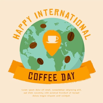 Ilustração do evento do dia internacional do café