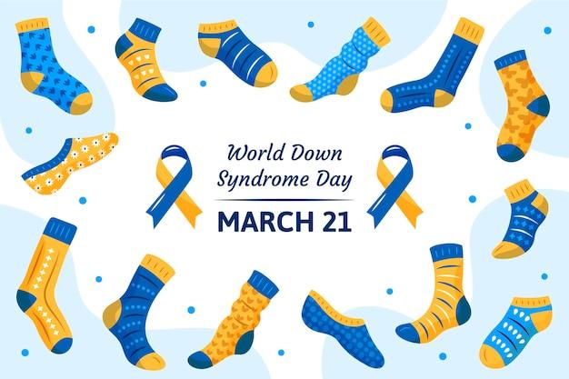 Ilustração do evento do dia mundial da síndrome de down