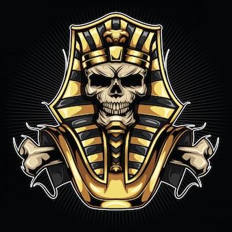 Ilustração do faraó crânio
