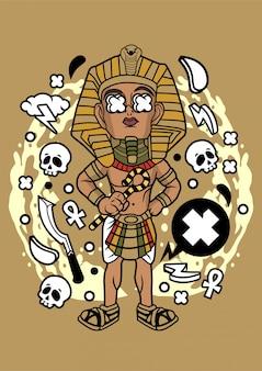 Ilustração do faraó