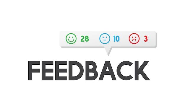 Ilustração do feedback do cliente