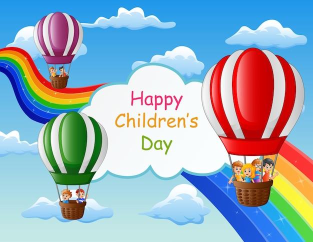 Ilustração do feliz dia das crianças