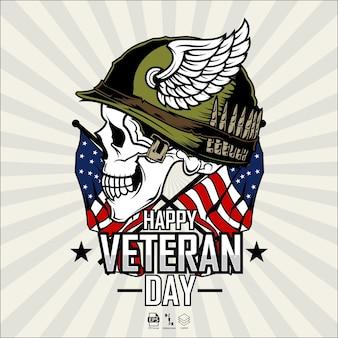 Ilustração do feliz dia veterano