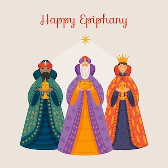 Ilustração do festival de epifania plana