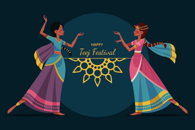 Ilustração do festival teej