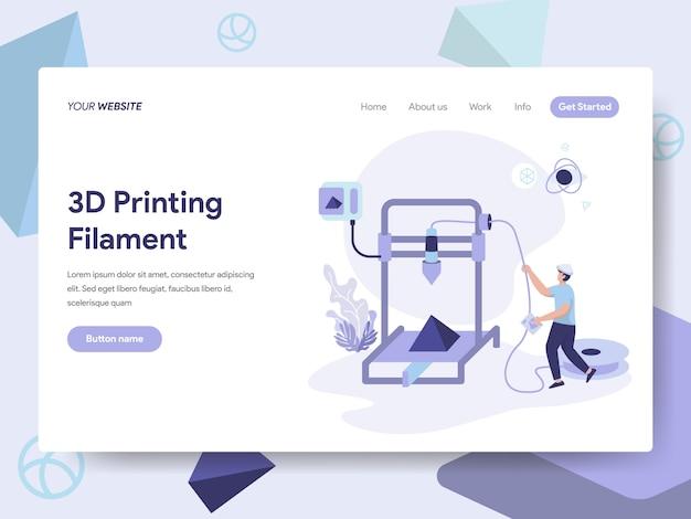 Ilustração do filamento da impressão 3d