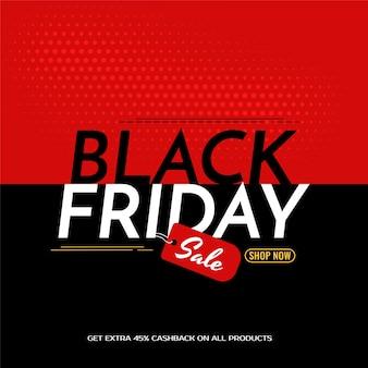 Ilustração do fundo da venda black friday