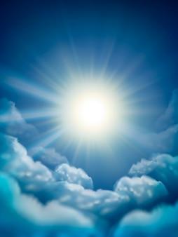 Ilustração do fundo do céu ensolarado