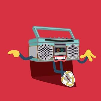 Ilustração do fundo do rádio