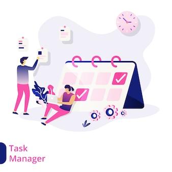 Ilustração do gerenciador de tarefas
