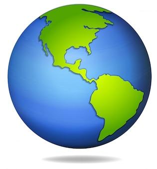 Ilustração do globo da terra