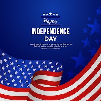 Ilustração do gradiente 4 de julho do dia da independência